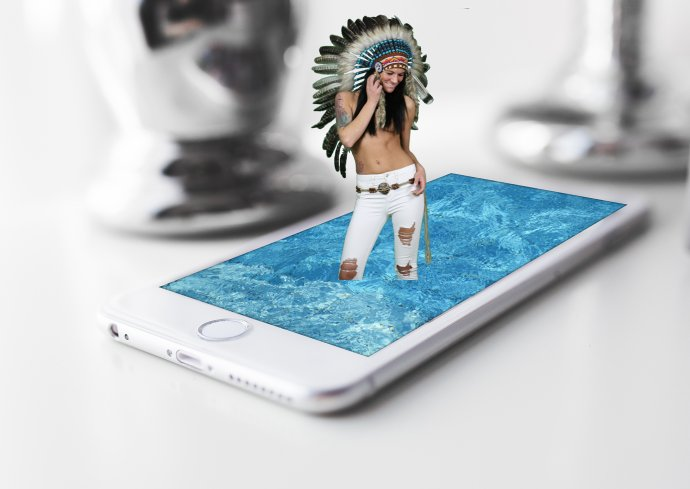 Indianer im Iphone