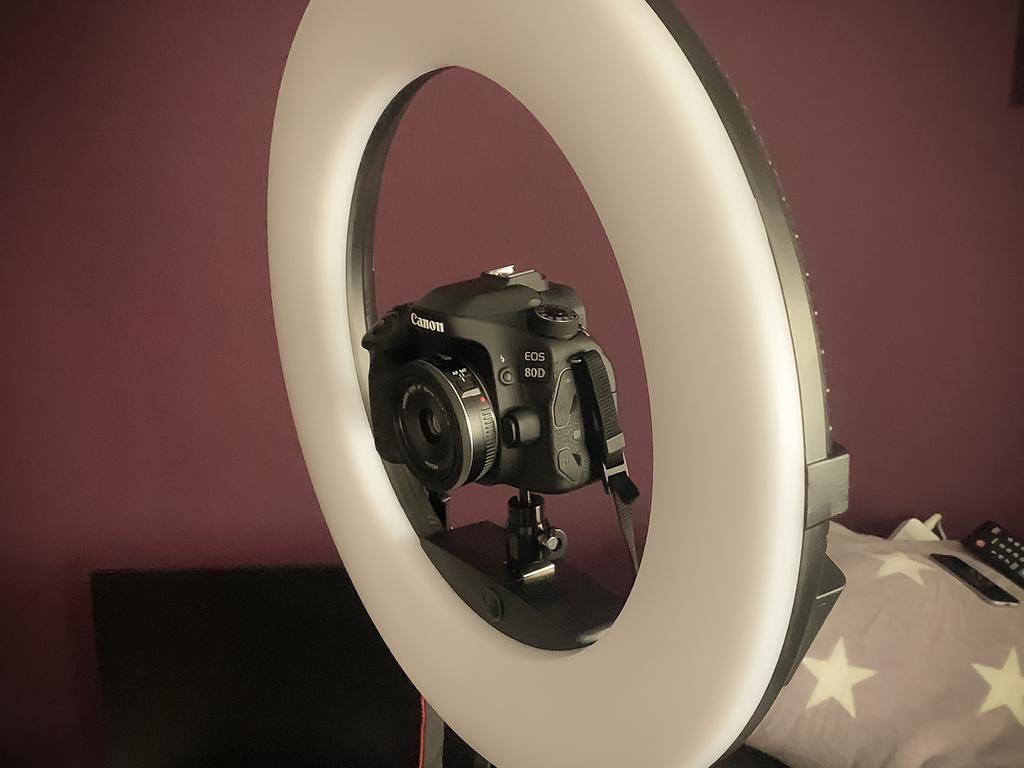 Rollei Ringlicht mit DSLR Canon
