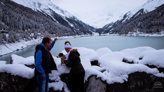 Gletscher mit Dadi und Fetti am rumalbern