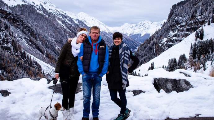 Kaunatal Gletscher mit Daddi, Franzi und Fetti