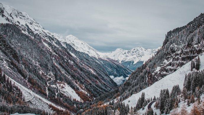 Blick ins Kaunertal Österreich